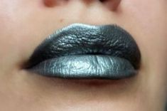 Dark silver/Metallic Gray  Lipstick  Nourishing  by FierceMagenta, $8.00