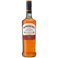 Bowmore Darkest 15 Year Old Single Malt Scotch Whisky Whiskey Bottle, Vodka Bottle, Online Supermarket, Scotch Whisky, Distillery, 15 Years, Food, Bottles, Drinks
