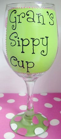 Gift idea- paint a wine glass and package it with some mini wine bottles and/or other wine accessories.