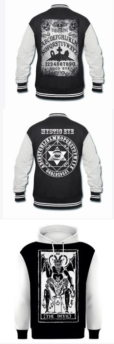 Shop occult Ouija and tarot hoodies and varsity jackets at RebelsMarket.
