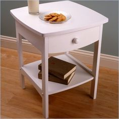 Winsome Basics Solid Wood End Table / Nightstand in White - 10218
