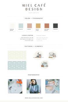 Miel Café Design Rebranding Brand & Web Design: Brand Board