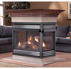 Vent Free Fireplaces Product | Napoleon GVF40P4 Vent Free Fireplace Island-Open 4 Sides Propane