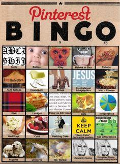 Pinterest Bingo! kkkkkkkk