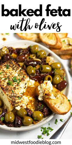 Baked Feta Recipe, Vegetarian Recipes, Cooking Recipes, Healthy Recipes, Tapas, Yummy Appetizers, Best Appetizer Recipes, Appetizer Ideas, Antipasto