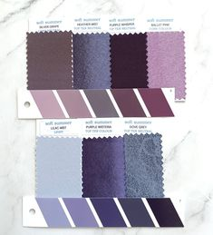 Soft Summer Color Palette, Summer Colors, Purple Wisteria, Seasonal Color Analysis, Color Plan, Soft Autumn, Draped Fabric, Fabric Swatches, Color Swatches