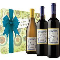 Cupcakes Wine Trio- Gourmet Food & Wine- California Wine - Harry & David