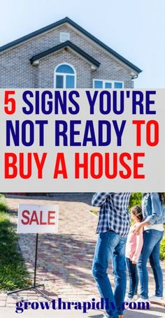 5 Signs Youre Not Ready to Buy a House - Credit Advice - Ideas of Credit Advice - steps to buying a house tips for first time home buyers buying a house tips tips on buying a house buying a home first time buying a home how to buy a house with bad credit. Renting Vs Buying Home, Home Buying Tips, Buying Your First Home, Home Buying Process, Ways To Save Money, Money Tips, Money Saving Tips, Money Plan, Money Savers