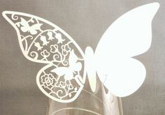 Pack of 12 laser cut butterfly place by Thevintagepartyhouse