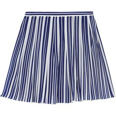 Vanessa Bruno Alexa striped silk crepe de chine skirt (4.558.770 IDR) ❤ liked on Polyvore featuring skirts, bottoms, faldas, saias, blue, stripe skirt, striped skirt, vanessa bruno skirt, blue pleated skirt and blue striped skirt