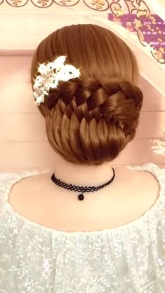 Easy Hairstyles For Long Hair, Fancy Hairstyles, Bride Hairstyles, Headband Hairstyles, Beautiful Hairstyles, Buns For Long Hair, Hairstyle Braid, Mohawk Hairstyles, Braid Bangs
