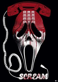 Alternative poster for the horror movie Scream Directed by Wes Craven. C… Alternative poster for the horror movie Scream Horror Icons, Horror Movie Posters, Movie Poster Art, Female Horror Movie Characters, Cool Movie Posters, Horror Movie Tattoos, Fan Poster, Halloween Movies, Halloween Horror