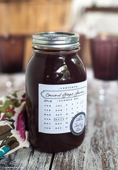 Printable Chalkboard Style Canning Labels | Lia Griffith