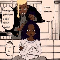 Black Cartoon Characters, Black Girl Cartoon, Black Girl Art, Anime Wolf Girl, Cute Anime Boy, Black Artwork, Brown Art, Anime Poses Reference, Afro Art