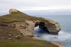 Tunnel Beach, Dunedin  Walk through private farmland, through an excavated tunnel to reach this stunning secluded beach. Visit while you can – the walkway is closed from August to October for lambing season.
