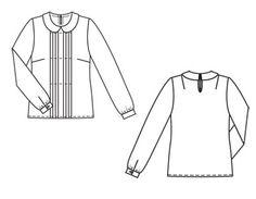 Burda 10-2011-114: Peter pan collar and front pleats