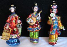 1980s Japanese Geisha Ornaments