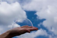 Photo about Cloudy bubbles in a hand. Image of bubbles, organ, horizon - 185081431 Bubbles, Dreams, Celestial, Outdoor, Image, Products, Outdoors, Outdoor Games, The Great Outdoors