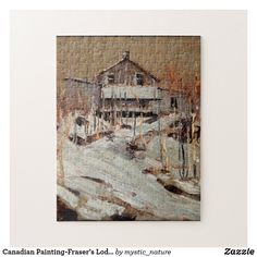 Canadian Painting-Fraser's Lodge by Tom Thomson Jigsaw Puzzle Canadian Gifts, Canadian Art, Tom Thomson, Canadian Painters, Great Works Of Art, Photographer Gifts, Wildlife Paintings, Classic Paintings, Gifts For Nature Lovers