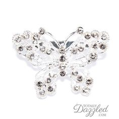 This beautiful rhinestone butterfly brooch is only $1.75 at totallydazzled.com! Come and see our wide selection of rhinestone products to perfectly suit your special event! We'll dazzle you!