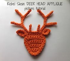 Rebel Skein: Deer Head Applique (revised) with picture tutorial
