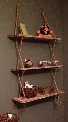Vintage rope shelves on Etsy, $70.00