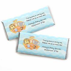 Noah's Ark - Personalized Baby Shower Candy Bar Wrapper Favors - BabyShowerStuff.com