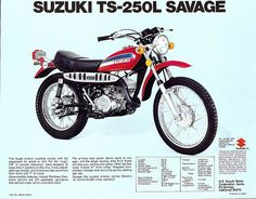 1974 Suzuki TS250l brochure | Denise & Rick | Flickr
