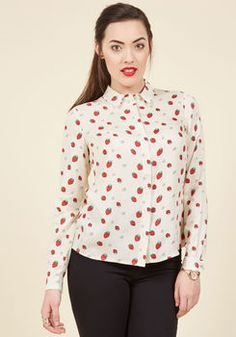Picking Positivity Button-Up Top