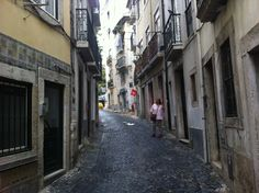 Our street in Alfama, the old Jewish quarter of Lisboa