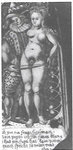 """detail of engraved decoration on the stock of a rifle in the Hessisches Landesmuseum, Darmstadt,dated c.1612. see recent essy """"Hunting erotica"""" by Tavares in ed. Suzzanne Karr Schmidt, """"Prints in Translation 1450-1750"""" (2017)"""