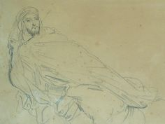 CHASSERIAU Théodore,1846 - Arabe allongé - drawing - Détail 01
