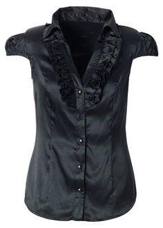 Satin blouse berry - Women - bonprix.co.uk