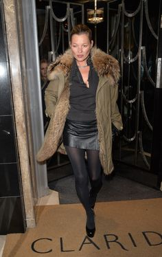 Kate Moss in JOSEPH parka