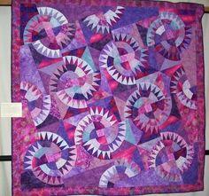 Montana Cartwheel by Linda Park. New York Beauty quilt. Photo by Nicola Foreman. Whoooo hoooo - Linda Park ...