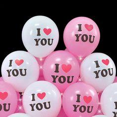 I love you, love balloon - courtship, anniversary, Valentine& Day