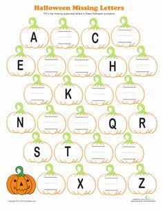Pumpkin Alphabet | Education.com