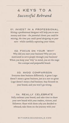 Tips For A Successful Rebrand Rebranding Your Business Designing Your Brand Tips for a successful rebrand.
