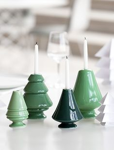 Avvento Kerzenleuchter, Grün von Kähler Design für Baumkerzen