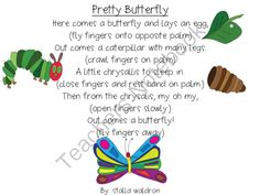 Pretty Butterfly Poem and Props Freebie from Fun in ECSE on TeachersNotebook.com - (4 pages) - A poem that talks about a butterfly's life cycle with props.