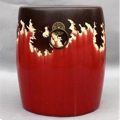 创意新中式家具摆件白色瓷墩绣墩陶瓷鼓凳小...