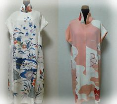 Wafu Colle『Kimono reform』☆  2 kimono reformed to tunic one-piece dress wear♪ http://blog.kobecoffee.com/2012/10/22.html