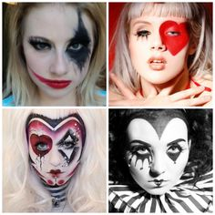 Jester makeup. Halloween Clown.