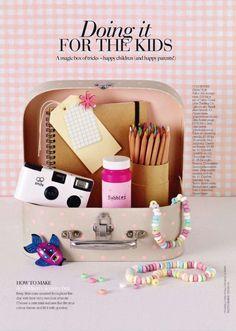 Überraschungskoffer für Kinder, gegen Langeweile, Hochzeit, Kindertisch, Kids Table