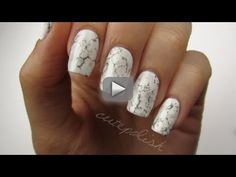 Stone Marble Nails?! - hey guys! this video will show you how to easily create a…