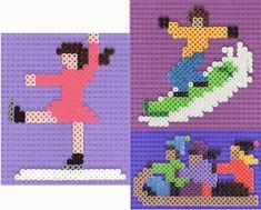 Mozaïek maken -- Leuk om te knutselen Cross Stitch Patterns, Quilt Patterns, School Sports, Paper Piecing, Pixel Art, Origami, Quilts, Winter, Beads