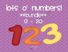 Lots O Numbers Bundle!  (0 - 20) from Lovin' Kinder on TeachersNotebook.com -  (24 pages)  - This bundled set contains everything that the Lots �o Numbers Sets 1 and 2 contain!