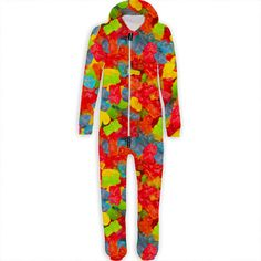 bf87d9823227 Shop gummy bear belovesie hooded jumpsuit at belovedshirts. This jumpsuit  is made using special sublimation