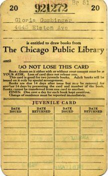 1928 Chicago Public Library card