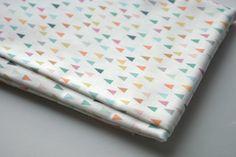 mountains - pastel fabric - fat quarter - triangle fabric - geometric fabric